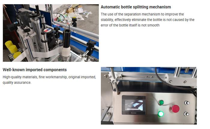 Chi tiết máy dán nhãn chai để bàn tự động