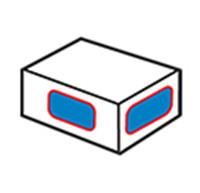 Máy dán nhãn góc thùng carton